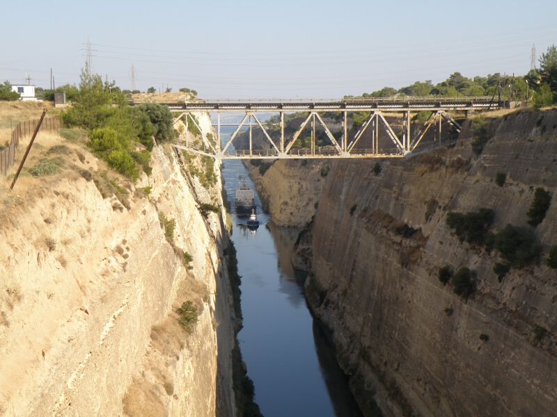 Frauen Segeln: Kanal von Korinth