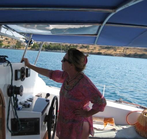 Die Skipperin für Frauensegeln